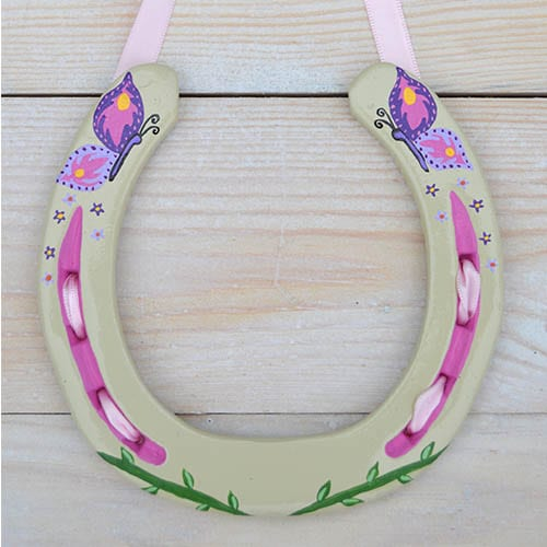 Beautiful Butterfly Horseshoe Gift