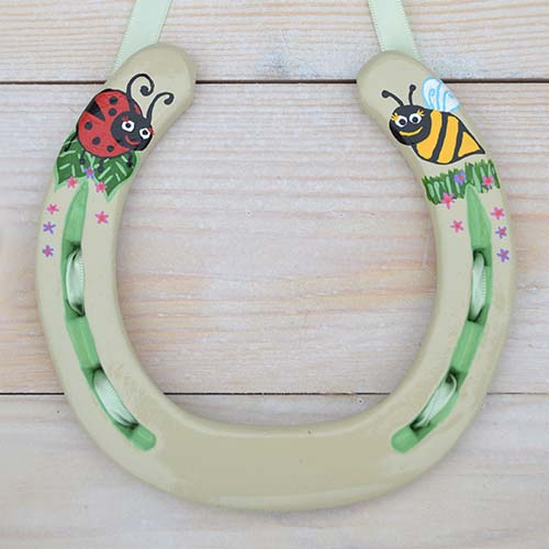 Bumble Bee And Ladybird Horseshoe Gift