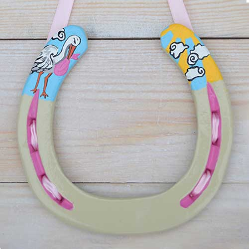 Stork And Sunbeam Horseshoe Gift