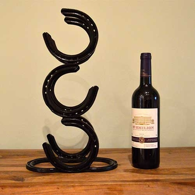 3 Bottle Horseshoe Wine Rack